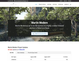 martinmodern.buyingpropertysingapore.com screenshot