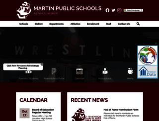 martinpublicschools.org screenshot