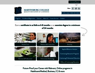 martinsburgcollege.edu screenshot