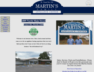 martinsfamilyappliance.com screenshot