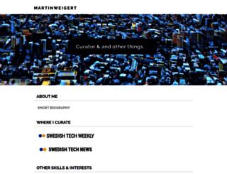 martinweigert.com screenshot