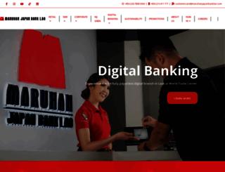 maruhanjapanbanklao.com screenshot