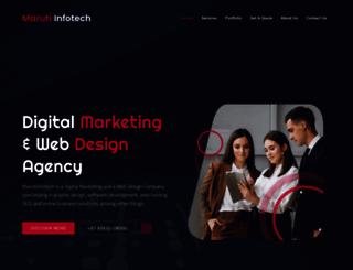 marutiinfotech.com screenshot