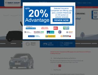 marutiinsurance.com screenshot