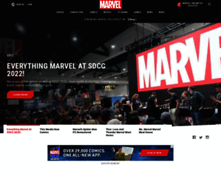 marvel.com screenshot
