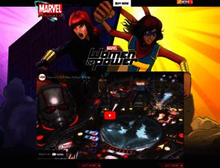 marvelpinball.com screenshot