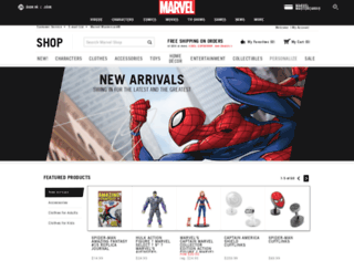 marvelstore.com screenshot