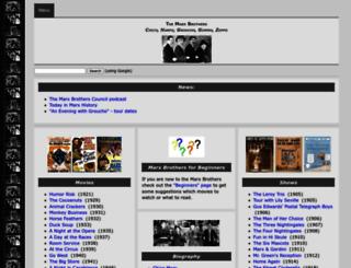 marx-brothers.org screenshot