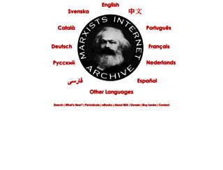 marxists.org screenshot