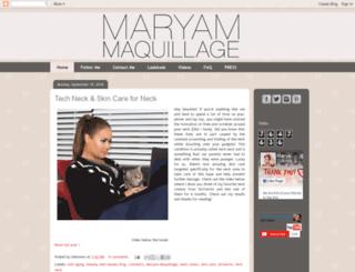 maryammaquillage.com screenshot