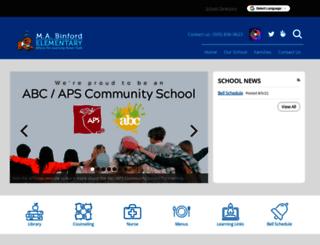 maryannbinford.aps.edu screenshot