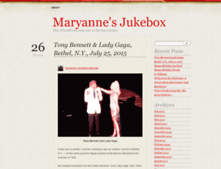 maryannesjukebox.wordpress.com screenshot