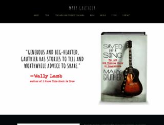 marygauthier.com screenshot