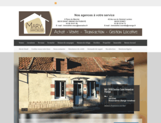 maryimmobilier.fr screenshot