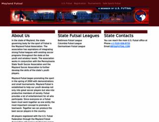 maryland.futsal.com screenshot