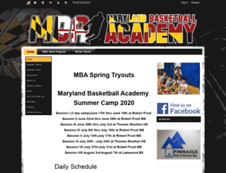 marylandbasketballacademy.org screenshot