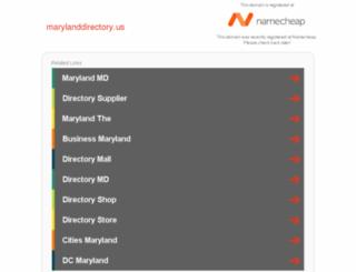 marylanddirectory.us screenshot