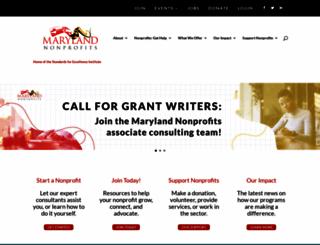 marylandnonprofits.org screenshot