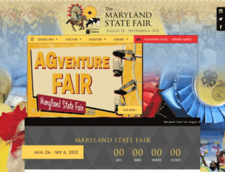 marylandstatefair.com screenshot