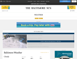 marylandweather.com screenshot