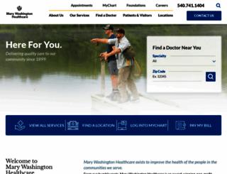 marywashingtonhealthcare.com screenshot