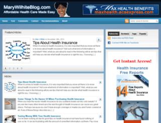 marywilhiteblog.com screenshot