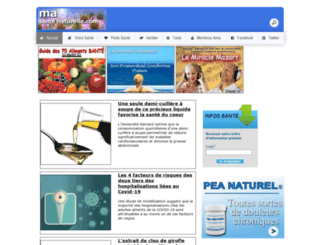 masantenaturelle.com screenshot