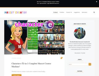 mascotcreatortoolkit.com screenshot