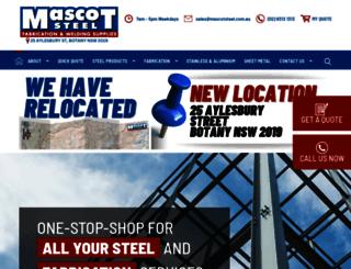 mascotsteel.com.au screenshot