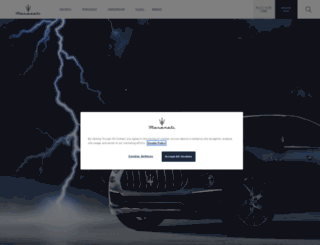 maserati.co.uk screenshot