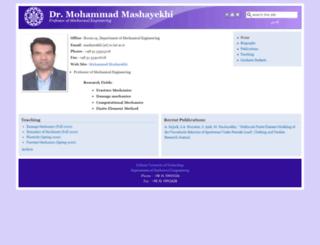 mashayekhi.iut.ac.ir screenshot