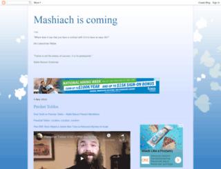 mashiachiscoming.blogspot.com screenshot