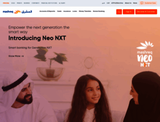 mashreqbank.com screenshot