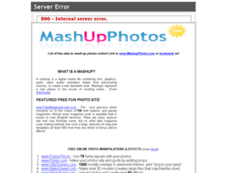 mashupphotos.com screenshot