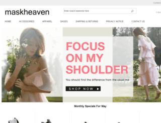 maskheaven.co.uk screenshot