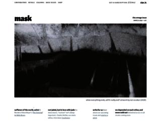 maskmagazine.com screenshot