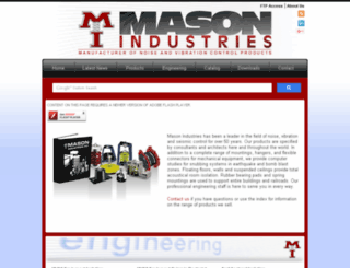 mason-industries.com screenshot