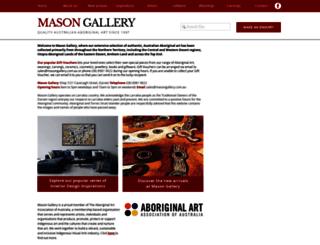 masongallery.com.au screenshot