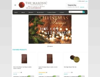 masonicexchange.com screenshot
