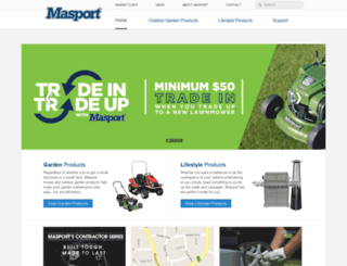 masport.com.au screenshot