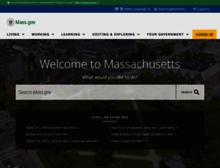 massachusetts.gov screenshot