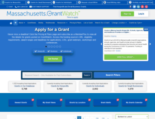 massachusetts.grantwatch.com screenshot