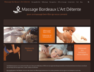 massagebordeaux.org screenshot
