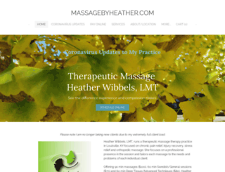 massagebyheather.com screenshot