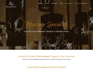 massagespecialists.com.au screenshot