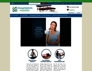massagetablerentals.com screenshot