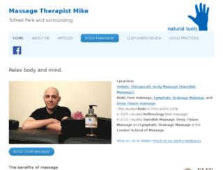 massagetherapistmike.co.uk screenshot