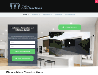 massconstructions.com.au screenshot