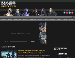 masseffectnexus.com screenshot