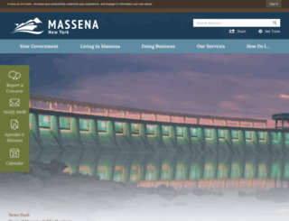 massena.us screenshot